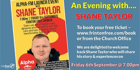 Alpha launch event with Shane Taylor tickets
