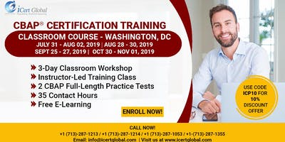 CBAP- (Certified Business Analysis Professional™) Certification Training Course in Washington, DC, USA.