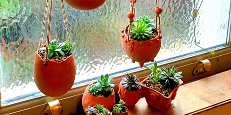 Make a hanging ceramic plant holder tickets