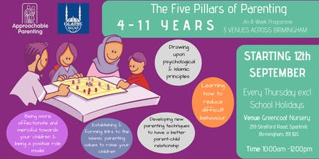 The Five Pillars of Parenting: 4-11 Parenting Programme (Greencoat) tickets