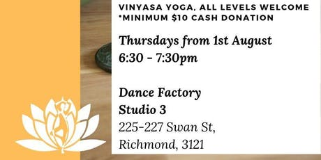 YOGA *pay as you feel/donation yoga classes in Richmond tickets