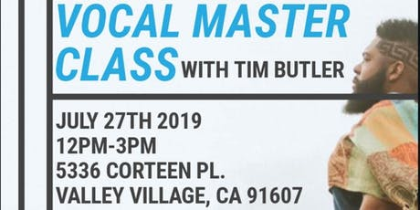 Tim Butler Vocal Masterclass tickets