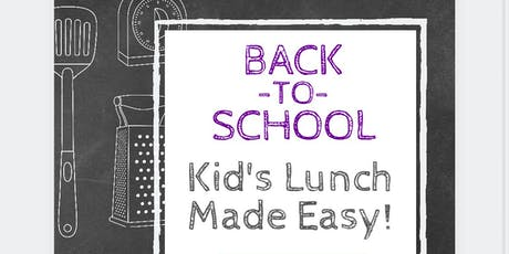 Simplify Series. For Moms. Back to School Lunch & Dinner Made Easy  tickets