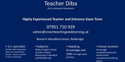 Teacher Diba Smart Teaching CEM 11+ Mock Exams August 2019 in Redbridge