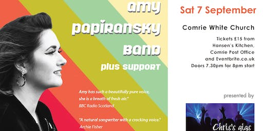 Amy Papiransky band with support from Andrea Heins