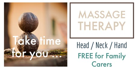 MASSAGE - FREE TO FAMILY CARERS tickets