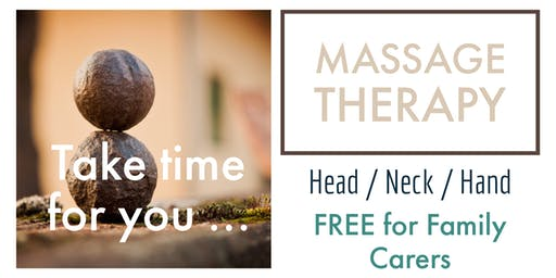 BENFLEET, MASSAGE - FREE TO FAMILY CARERS