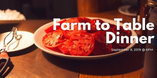 3rd Annual Farm to Table Dinner