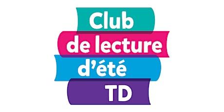 Animation du Club de lecture d'été TD - Formation en ligne  billets