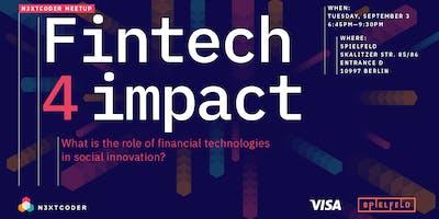 N3XTCODER Meetup Fintech 4 Impact with Visa @Spielfeld Digital Hub