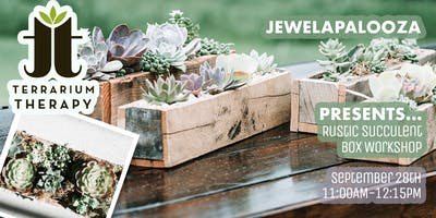 Rustic Box Succulent Workshop at Jewelapalooza
