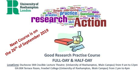 University of Roehampton Good Research Practice (GCP) Full-day & Half-Day Course tickets