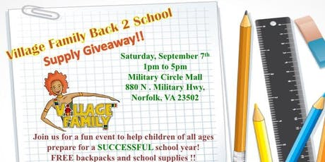 Village Family and Partners Back2School Expo  tickets