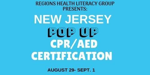 NEW JERSEY- POP UP CPR CERTIFICATION
