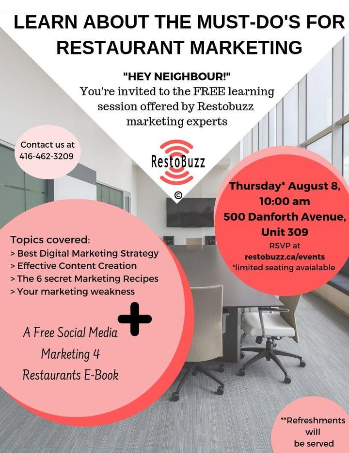 Restaurant Marketing Learning Session Tickets, Thu, Aug 8, 2019 at