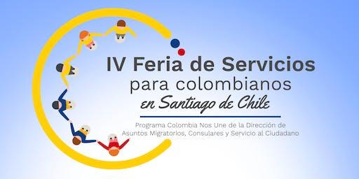 IV FERIA DE SERVICIOS PARA COLOMBIANOS EN SANTIAGO DE CHILE