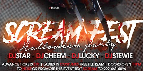 SCREAM FEST ( ULTIMATE HALLOWEEN COSTUME PARTY ) tickets