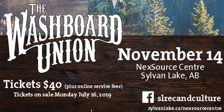 The Washboard Union tickets