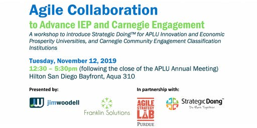 Agile Collaboration for IEP and Carnegie Engagement Institutions