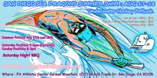 San Diego Summer Swim Potluck Tourney Weekend