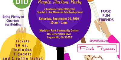 Quarters 4 Love - Purple Auction Party