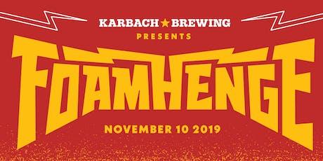 Foamhenge 2019 tickets