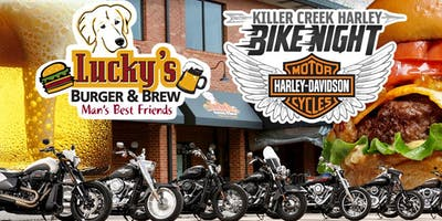Killer Creek Harley Bike Night | Lucky's Burger & Brew