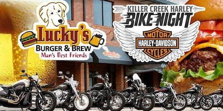 Killer Creek Harley Bike Night | Lucky's Burger & Brew tickets