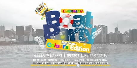"Rags An Flags.. ""Rep Your Colours"" Boat Party tickets"