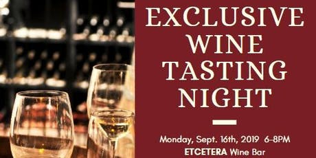 Exclusive Wine Tasting Night tickets