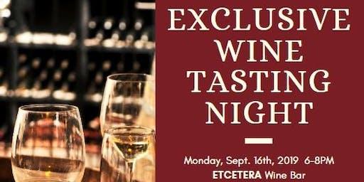Exclusive Wine Tasting Night