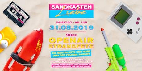 Sandkastenliebe - 90er Strandfete • 31.08.19 • Poller Strandbar Tickets