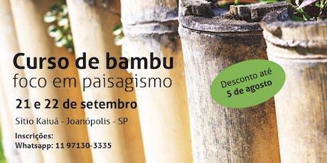 Curso de Bambu com foco em paisagismo ingressos