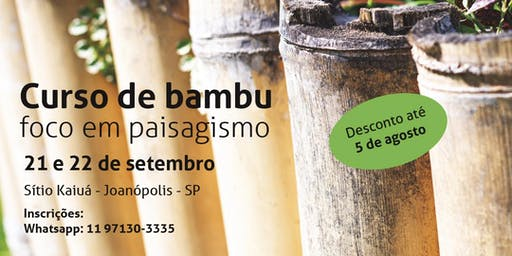 Curso de Bambu com foco em paisagismo