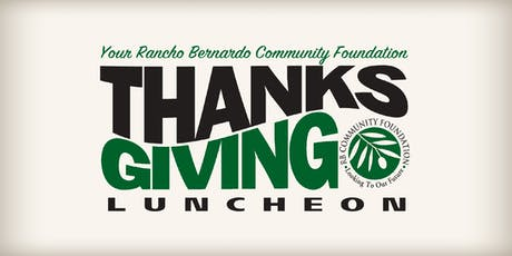 Rancho Bernardo Community Thanksgiving Luncheon 2019 tickets
