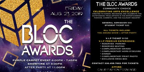 The BLOC Awards 2019 'Celebrating Arts Excellence' tickets