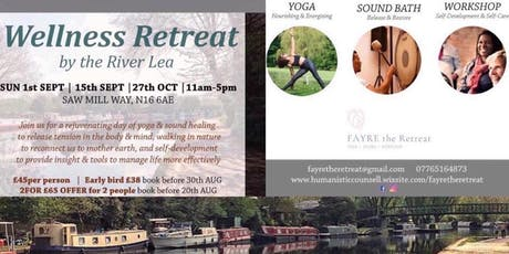 Wellness Day-Retreat by peaceful London River Lee |  YOGA + SOUND + WORKSHOP  | 15/09 | tickets