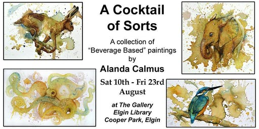 A Cocktail of Sorts - Wildlife Painting Exhibition by Alanda Calmus