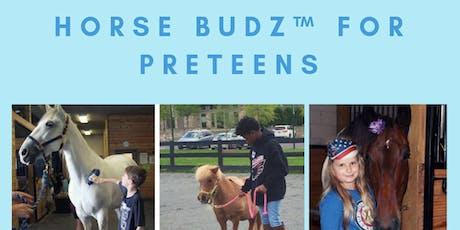Horse Budz Workshop for Preteens (program fee) tickets