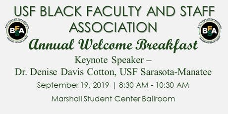 USF Black Faculty & Staff Annual Welcome Breakfast 2019 tickets
