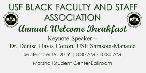 USF Black Faculty & Staff Annual Welcome Breakfast 2019
