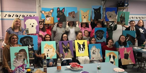 Paint Your Pet-Paint and Sip Night at Russo's -Eastampton