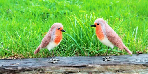 Festive Christmas Robins Needle Felting Workshop at The Old School Gallery on the 30/11/19