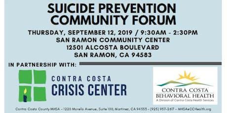 Suicide Prevention Community Forum tickets