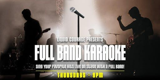 Full Band Karaoke Tickets with OPEN BAR