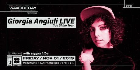 GIORGIA ANGIULI (LIVE) at MEZZANINE tickets