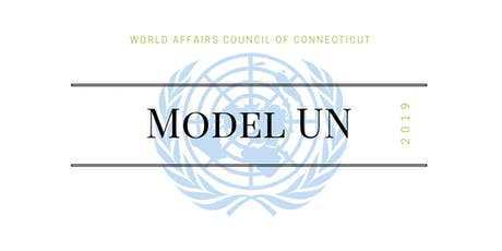World Affairs Council of CT Model United Nations 2019 tickets