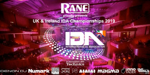 RANE proudly presents the 2019 UK & Ireland IDA Championships @ BEATGEEK