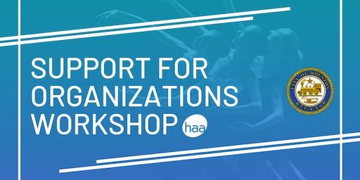 Support for Organizations Grants Workshop
