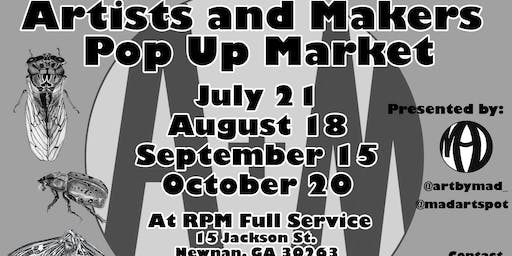 Artists and Makers Pop Up Market